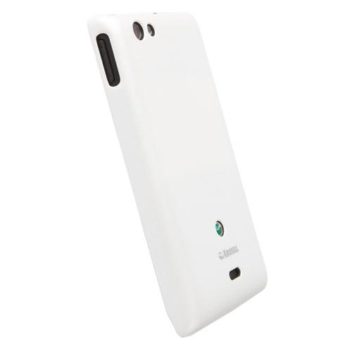 Krusell zadní kryt COLORCOVER pro Sony Xperia miro, bílá metalíza