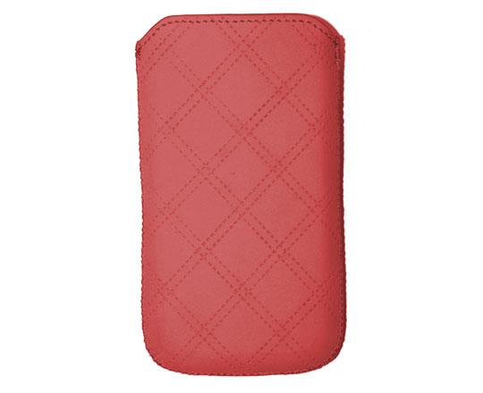 Ksix pouzdro svislé TUX DIAMOND pro iPhone4 a jiné smartphony (do 120 x 64 x 10 mm), purpurová