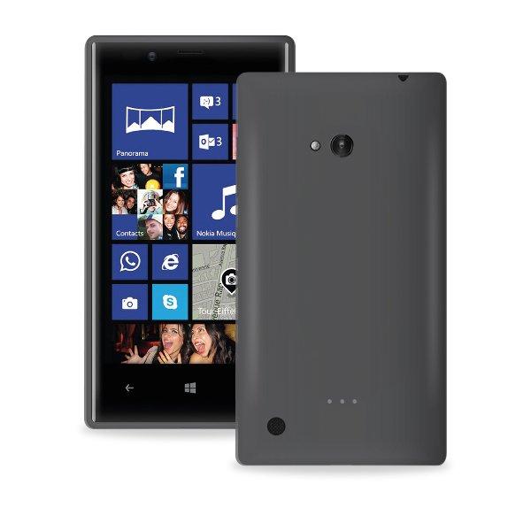 Puro silikonový kryt pro Nokia Lumia 720, černá