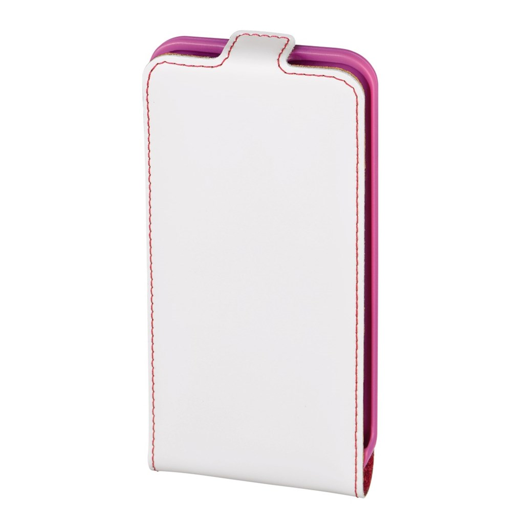 Hama guard Case Mobile Phone Window Case for Apple iPhone 5/5s, white/pink