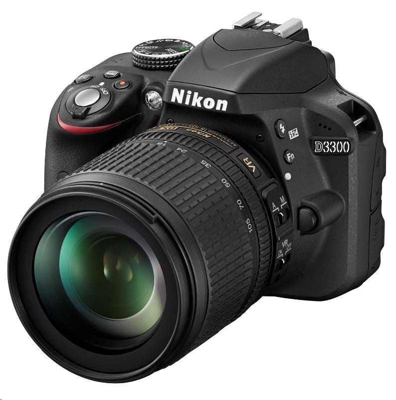 NIKON D3300 černá + 18-105 VR