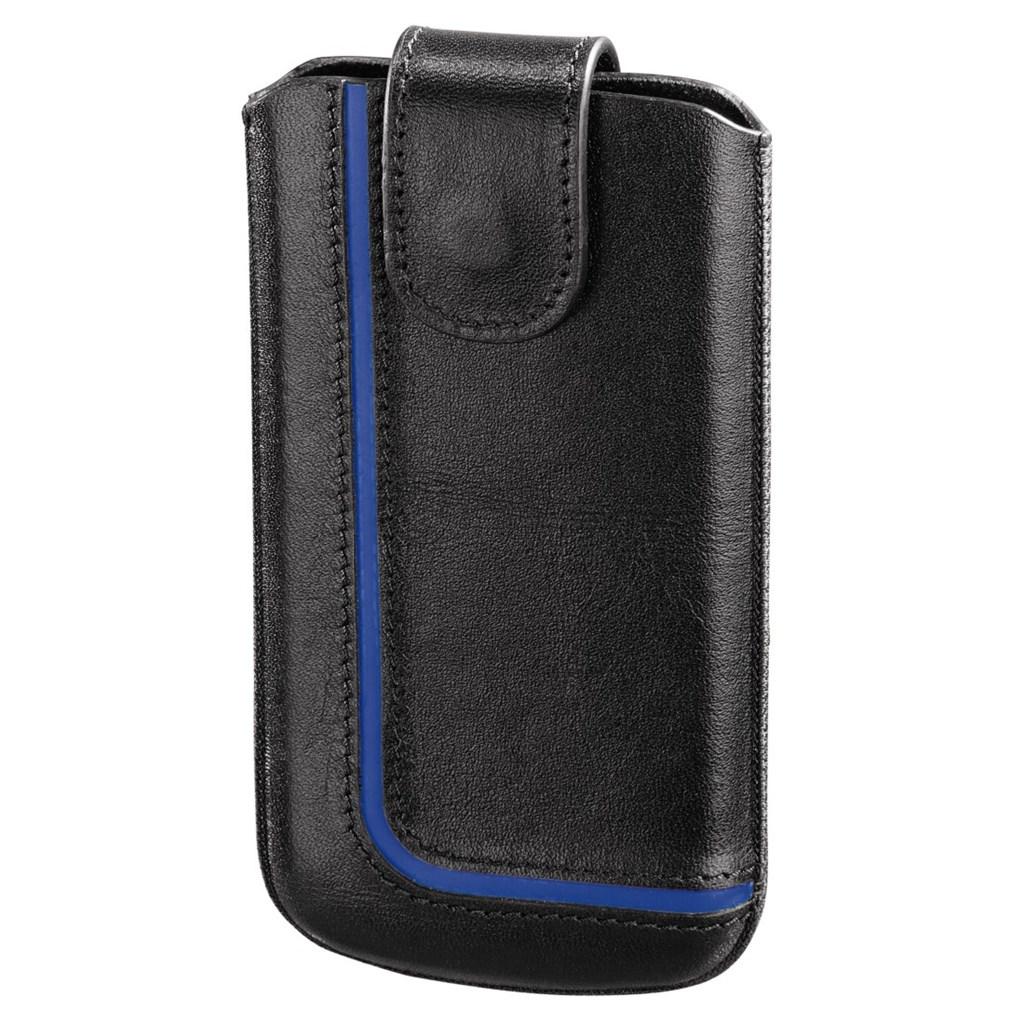 Hama pouzdro na mobilní telefon Neon Black, L, černé/modré