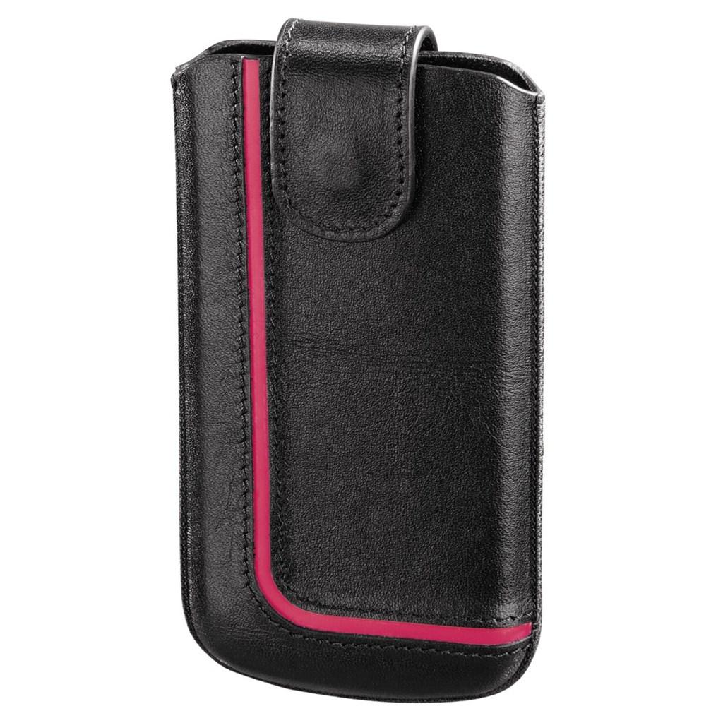 Hama pouzdro na mobilní telefon Neon Black, L, černé/růžové