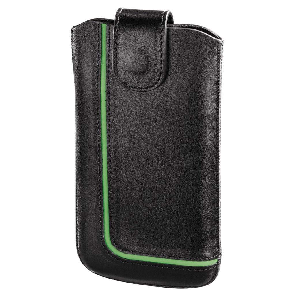 Hama pouzdro na mobilní telefon Neon Black, M, černé/zelené