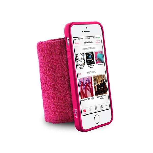 Puro sportovní náramek s rámečkem pro iPhone 5/5S Pink