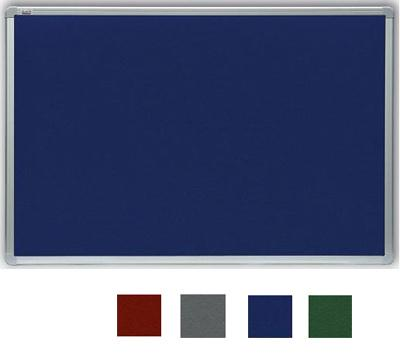 Filcová modrá tabule v hliníkovém rámu 120x90 cm