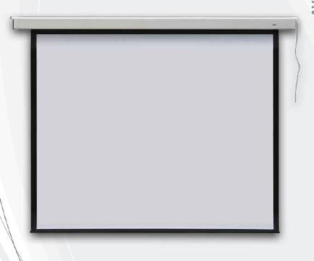 Elektrické promítací plátno na zeď 145x195 cm