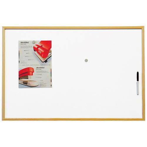 Magnetická tabule ECO board-lakovaný povrch, dřevěný rám 60x40
