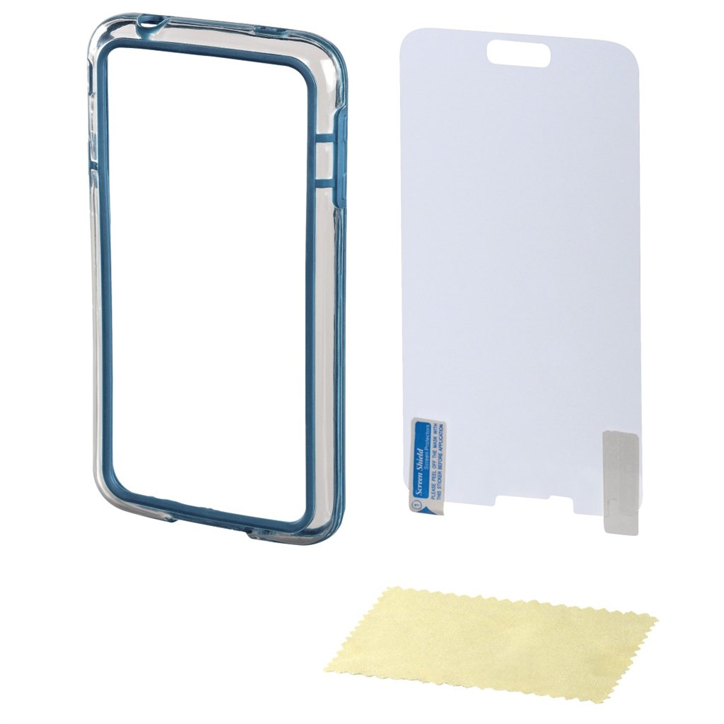 Hama edge Protector Cover for Samsung Galaxy S5 + Screen Protector, blue