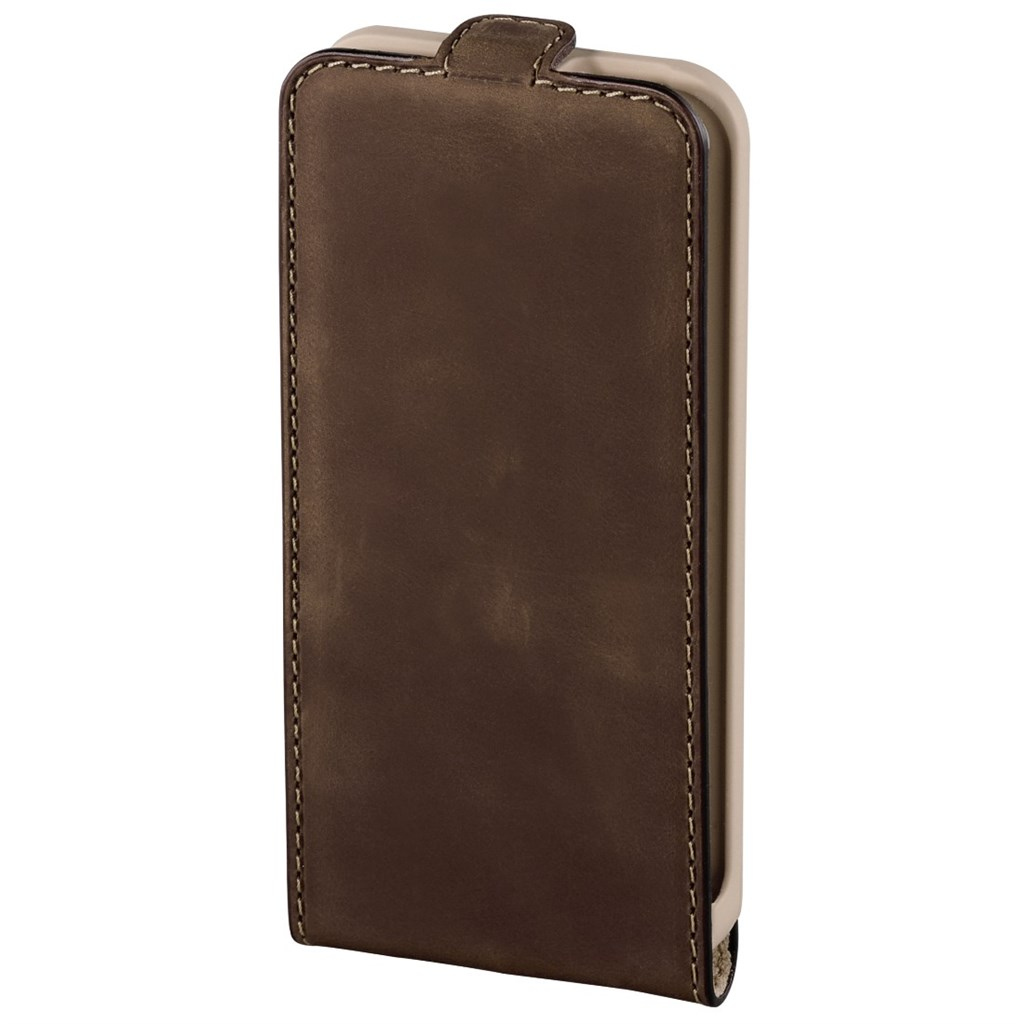 Hama prime/Smart Case Mobile Phone Window Case for iPhone 5/5s, oil brown