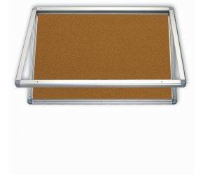 vitrína korková 150x100 se zámkem