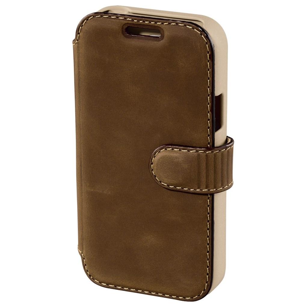 Hama prime Line Mobile Phone Portfolio for Galaxy S 4 mini, oil brown