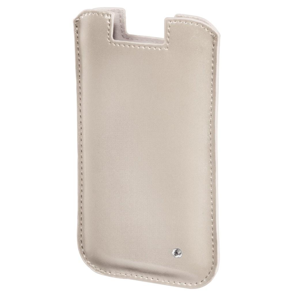 Hama pouzdro na mobil Shiny Metallic, velikost XL, béžové