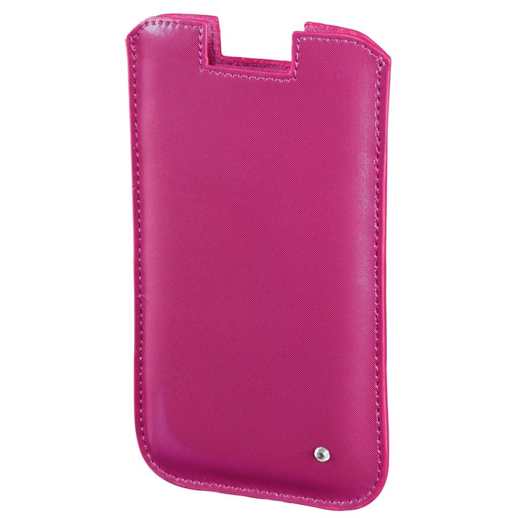 Hama pouzdro na mobil Shiny Metallic, velikost XL, růžové