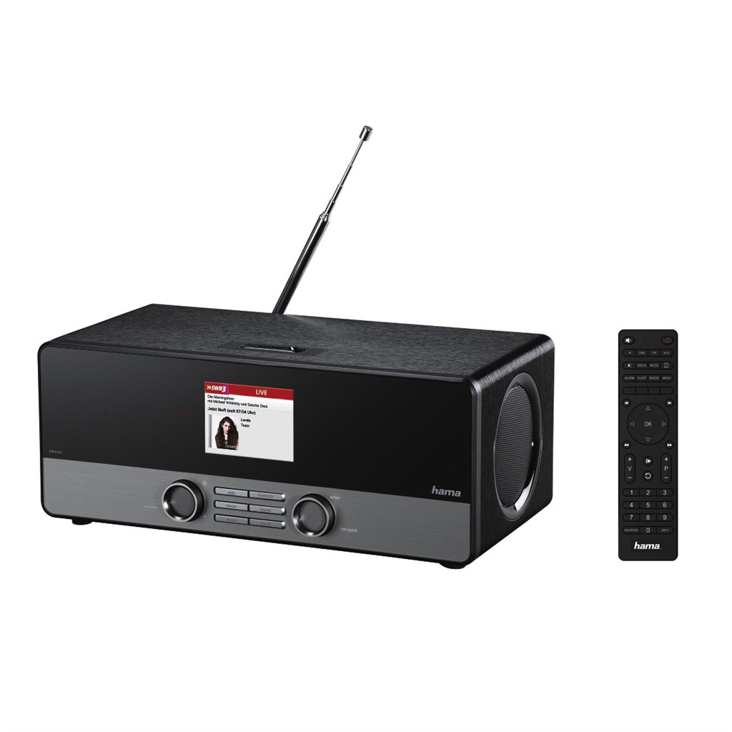 Hama digitální rádio DIR3100, DAB+, internetové rádio, FM/A/M, černé