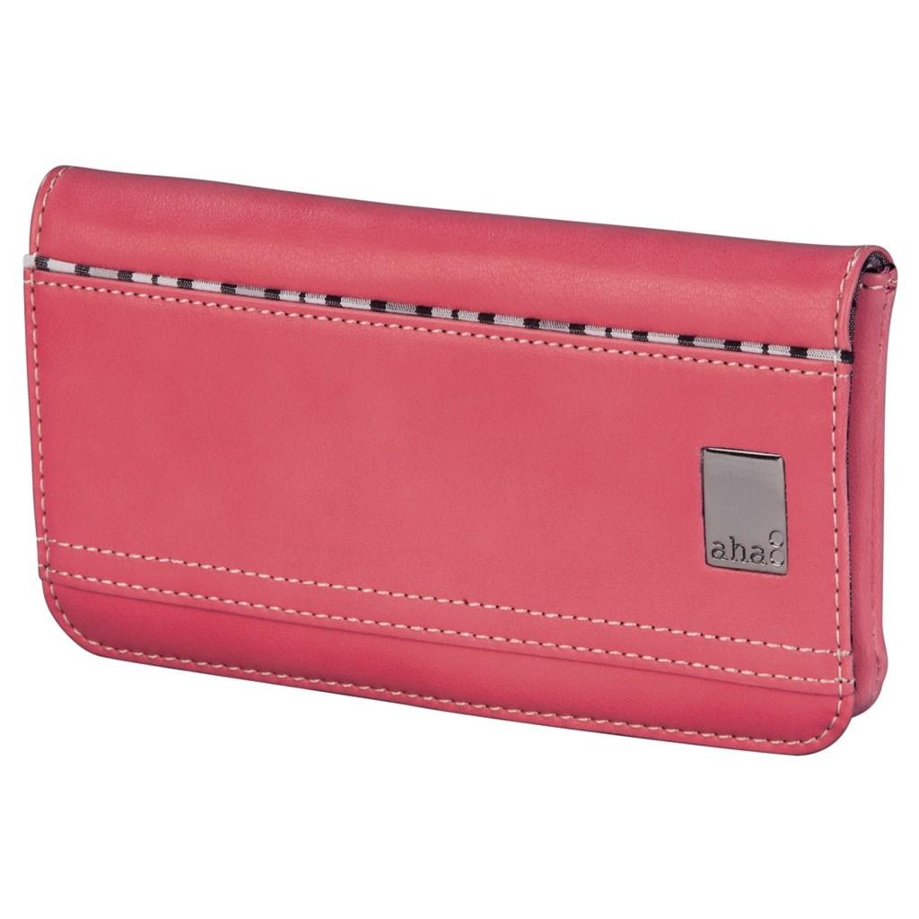 aha: pouzdro-peněženka na mobil, velikost XL, korálové