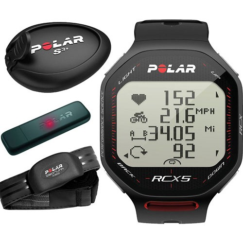 Polar RCX5 Black S3 (BĚH), vč. interface DataLink
