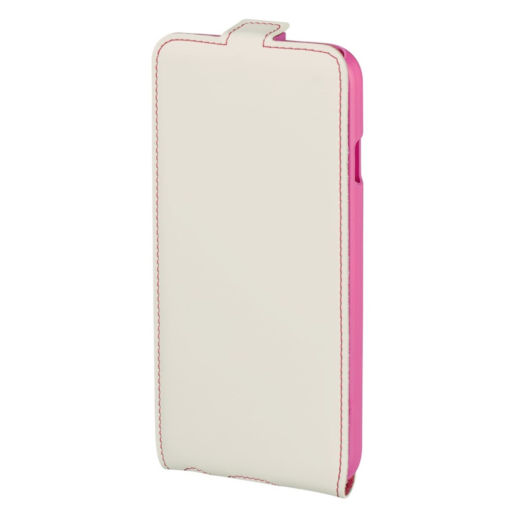 Hama guard Case Flap Case for Apple iPhone 6, white/pink