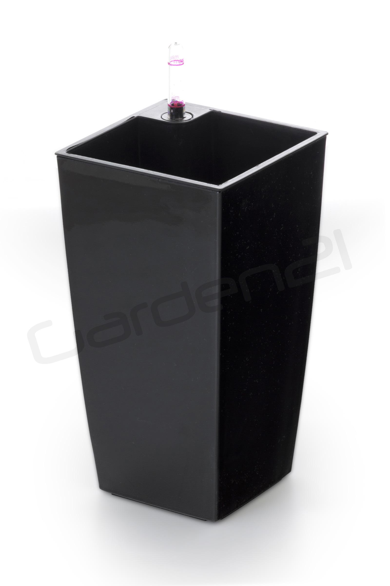 Samozavlažovací květináč G21 Linea mini černý 26cm