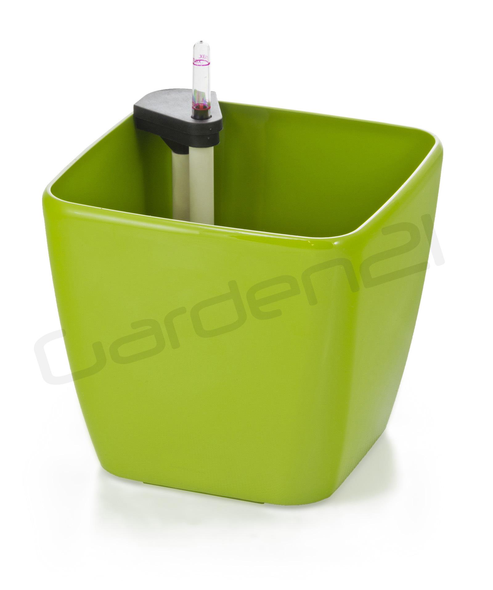Samozavlažovací květináč G21 Cube zelený 22cm