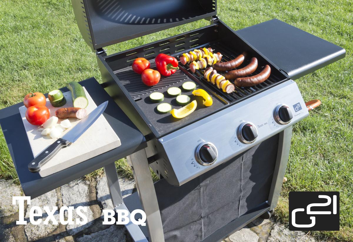 Plynový gril G21 Texas BBQ 3 hořáky + zdarma redukční ventil