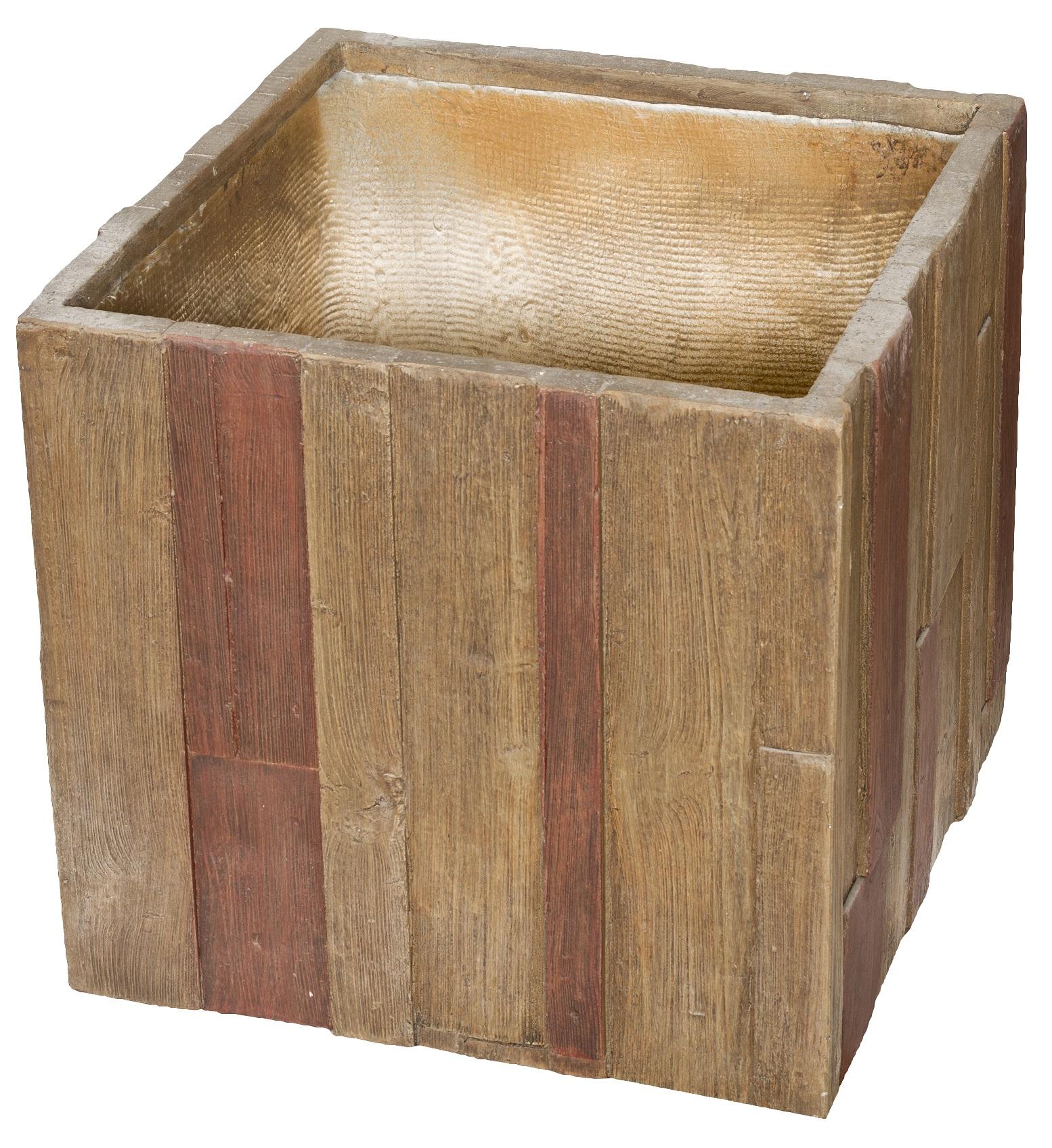 Květináč G21 Wood Cube 55cm
