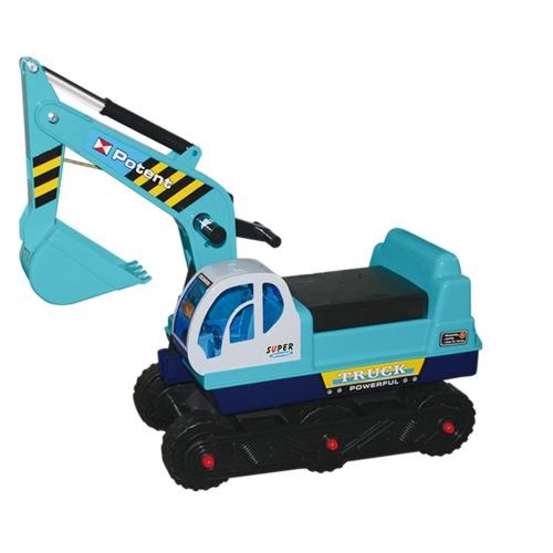 Hračka G21 Dětský bagr pásový, modrý