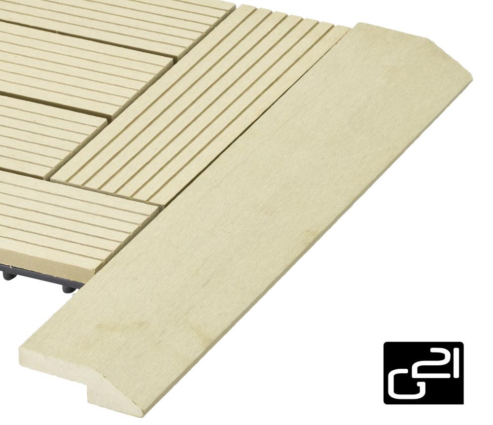 Přechodová lišta G21 pro WPC dlaždice Cumaru, 38,5x7,5 cm rohová