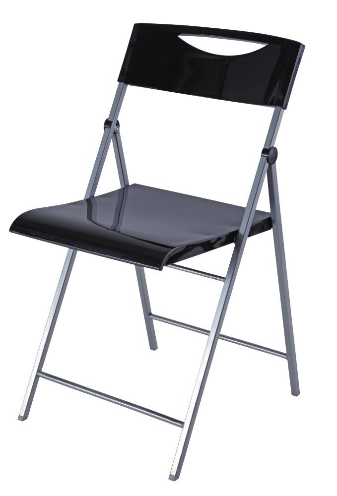 Skládací židle SMILE černá 2ks