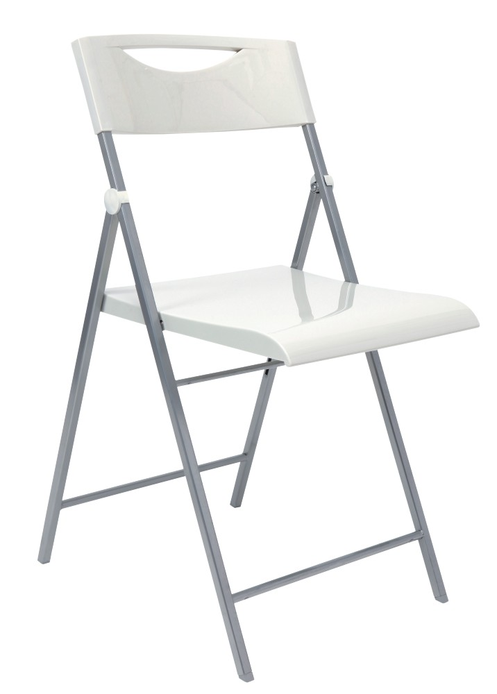 Skládací židle SMILE bílá 2ks