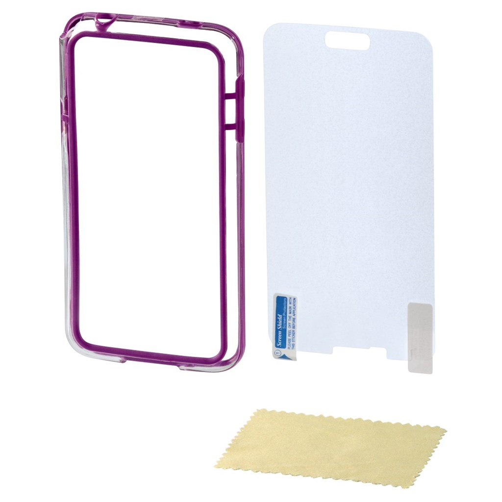 Hama edge Protector Cover for Samsung Galaxy S5 mini + Screen Protector, purp.