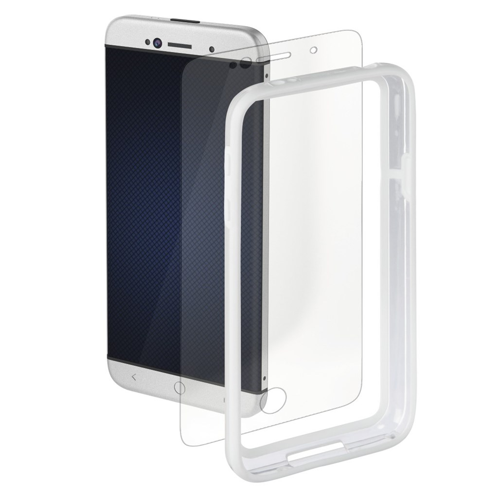 Hama edge Protector Cover for Samsung Galaxy S5 mini + Screen Protector, white