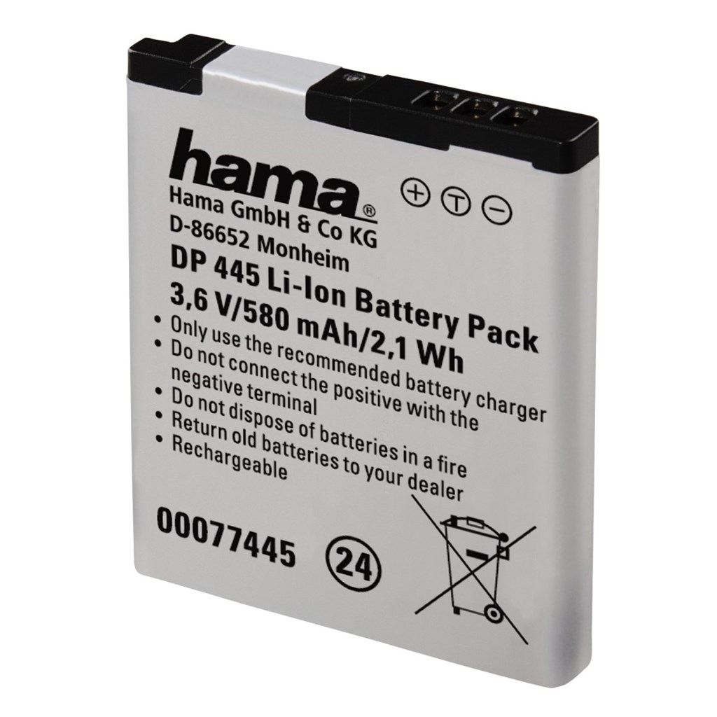 Hama fotoakumulátor Li-Ion 3,6 V/580 mAh, typ Panasonic DMW-BCL13