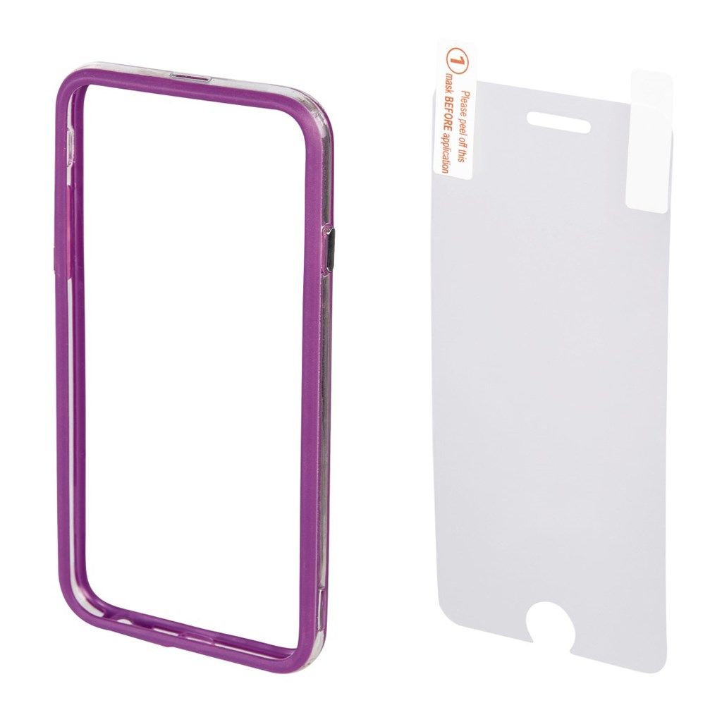 Hama edge Protector Cover for Apple iPhone 6 Plus + Screen Protector, purple