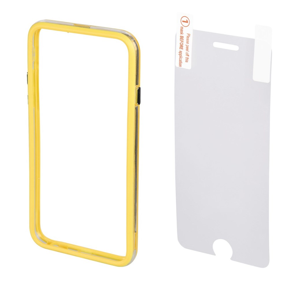 Hama edge Protector Cover for Apple iPhone 6 Plus + Screen Protector, yellow
