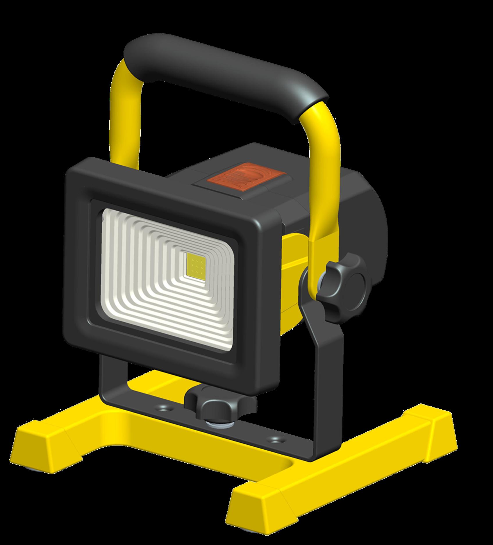 Reflektor G21 LED přenosný bateriový 10W, 750lm, studená bílá, krytí IP65
