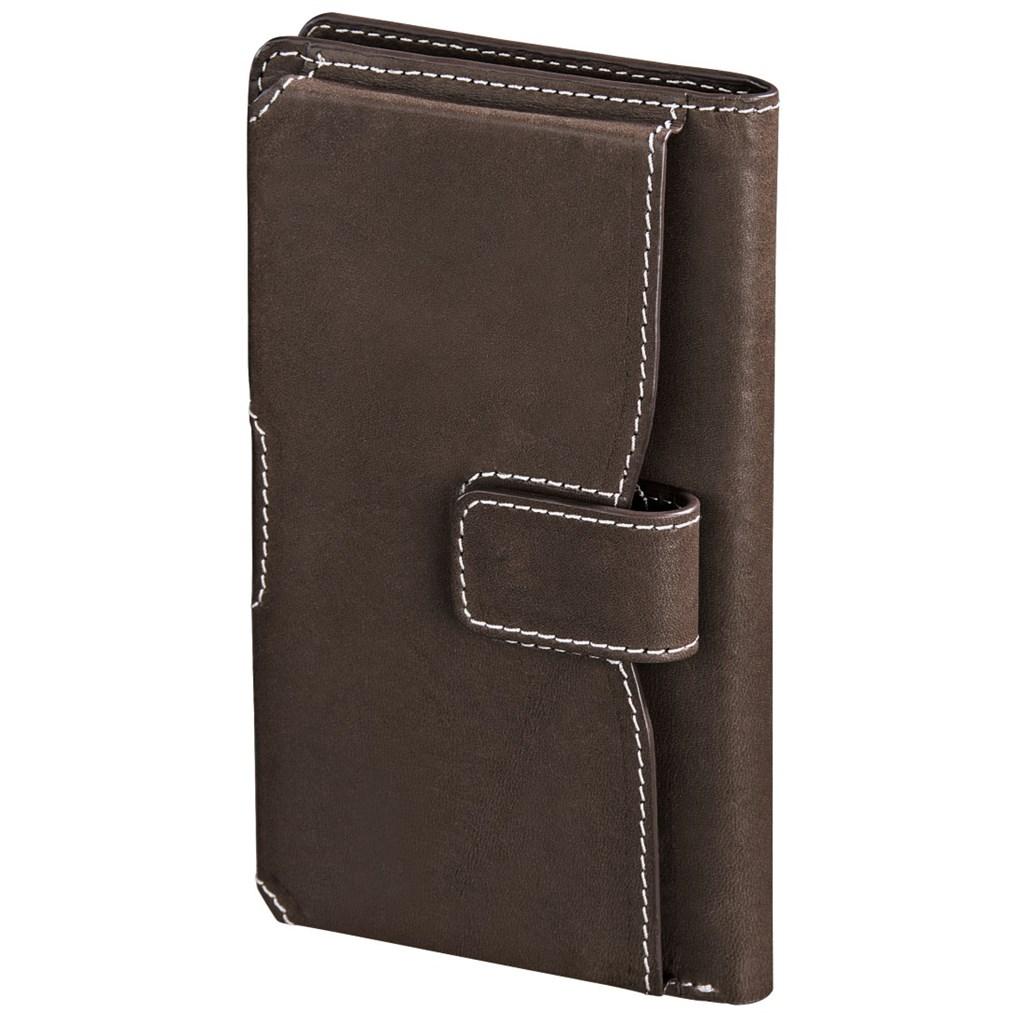 Hama kožené pouzdro na mobil Case, velkost XL, hnědé