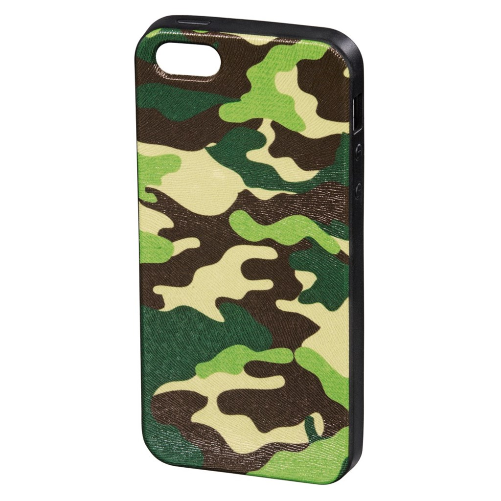 Hama camouflage Cover for Apple iPhone 5/5s, green/black