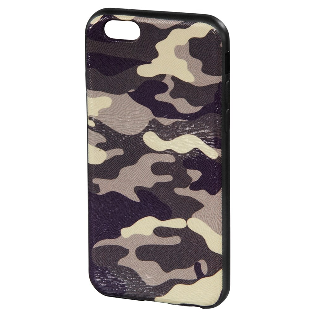Hama camouflage Cover for Apple iPhone 6, grey/black