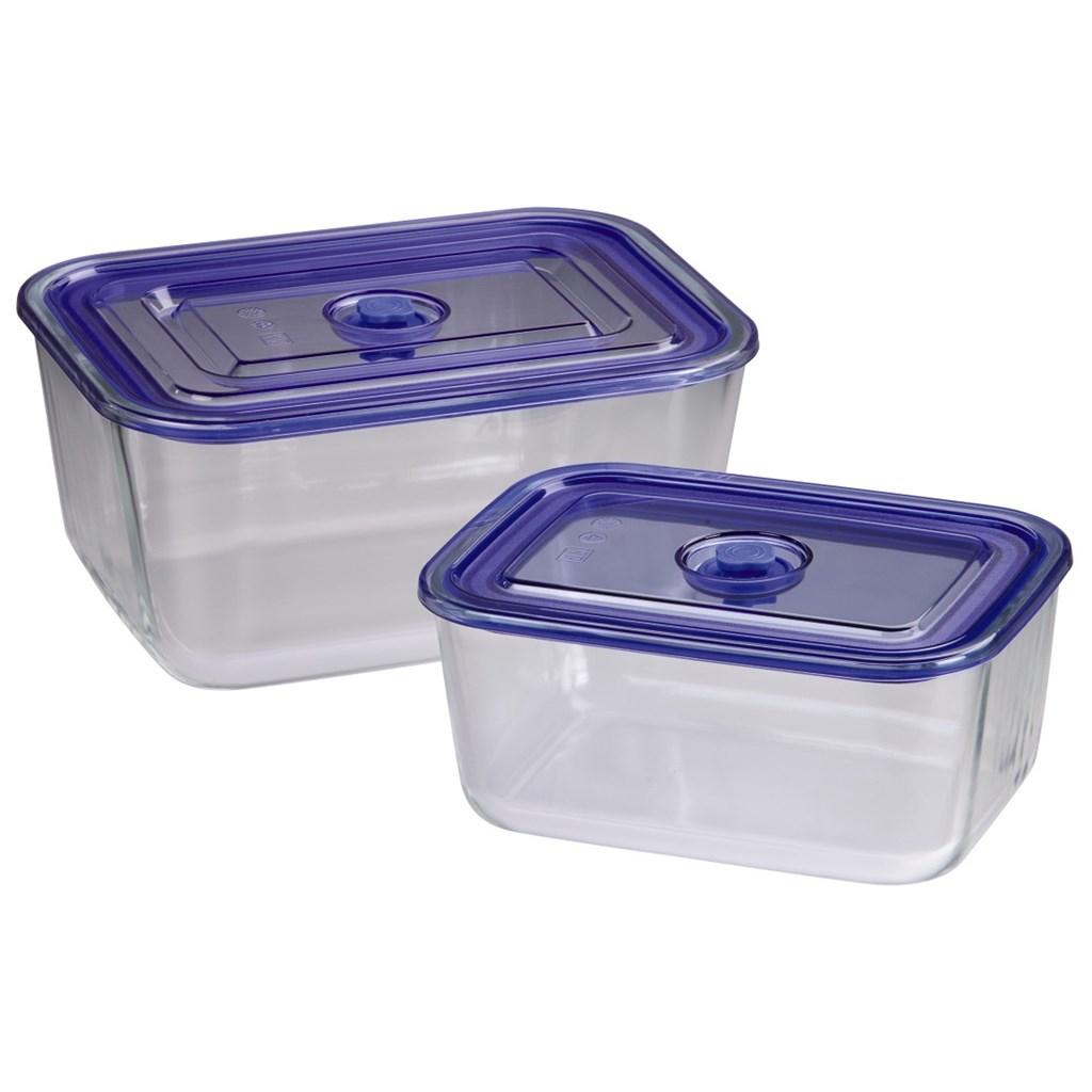 Xavax skleněné nádoby, hranaté, 1500 ml + 3050 ml, 2 ks