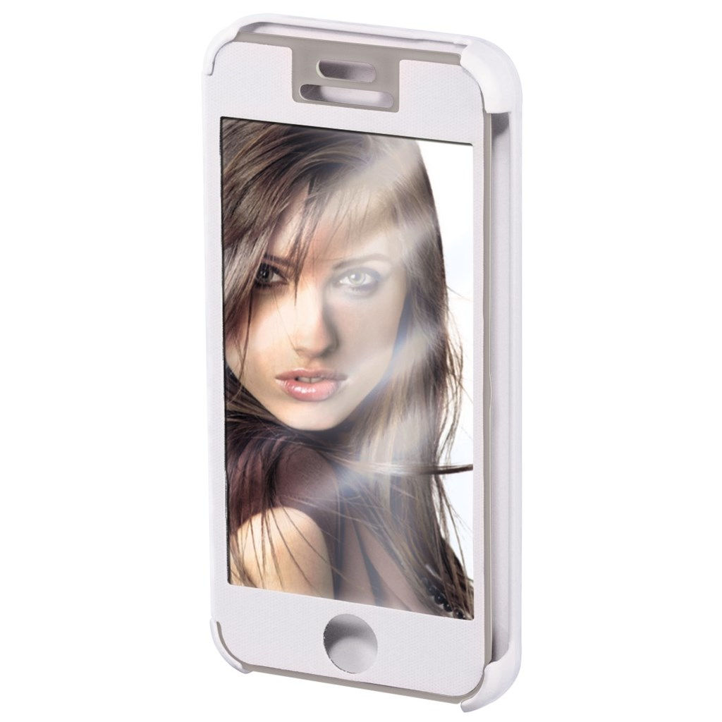 Hama mirror Booklet Case for Apple iPhone 6, white/silver
