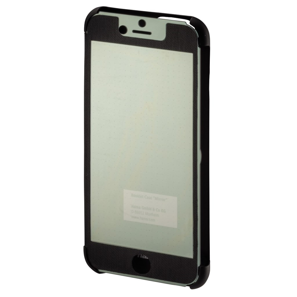 Hama mirror Booklet Case for Apple iPhone 6, black/silver