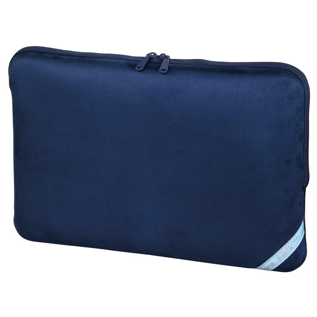 """Hama """"Velour"""" notebook obal, 44 cm (17.3""""), indigo modrá"""