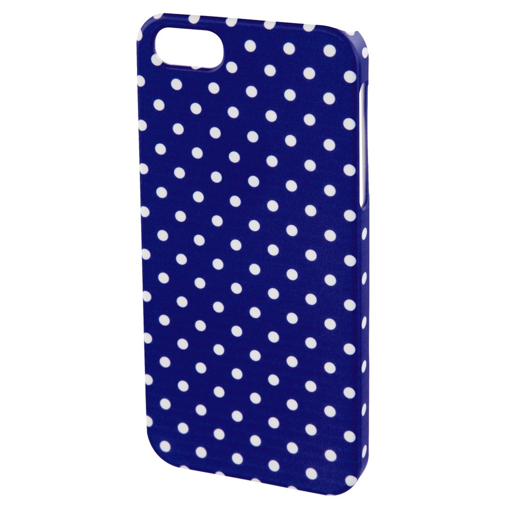 Hama polka Dots Cover for Apple iPhone 4S, blue/white