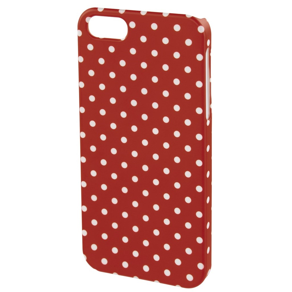 Hama polka Dots Cover for Apple iPhone 4S, red/white