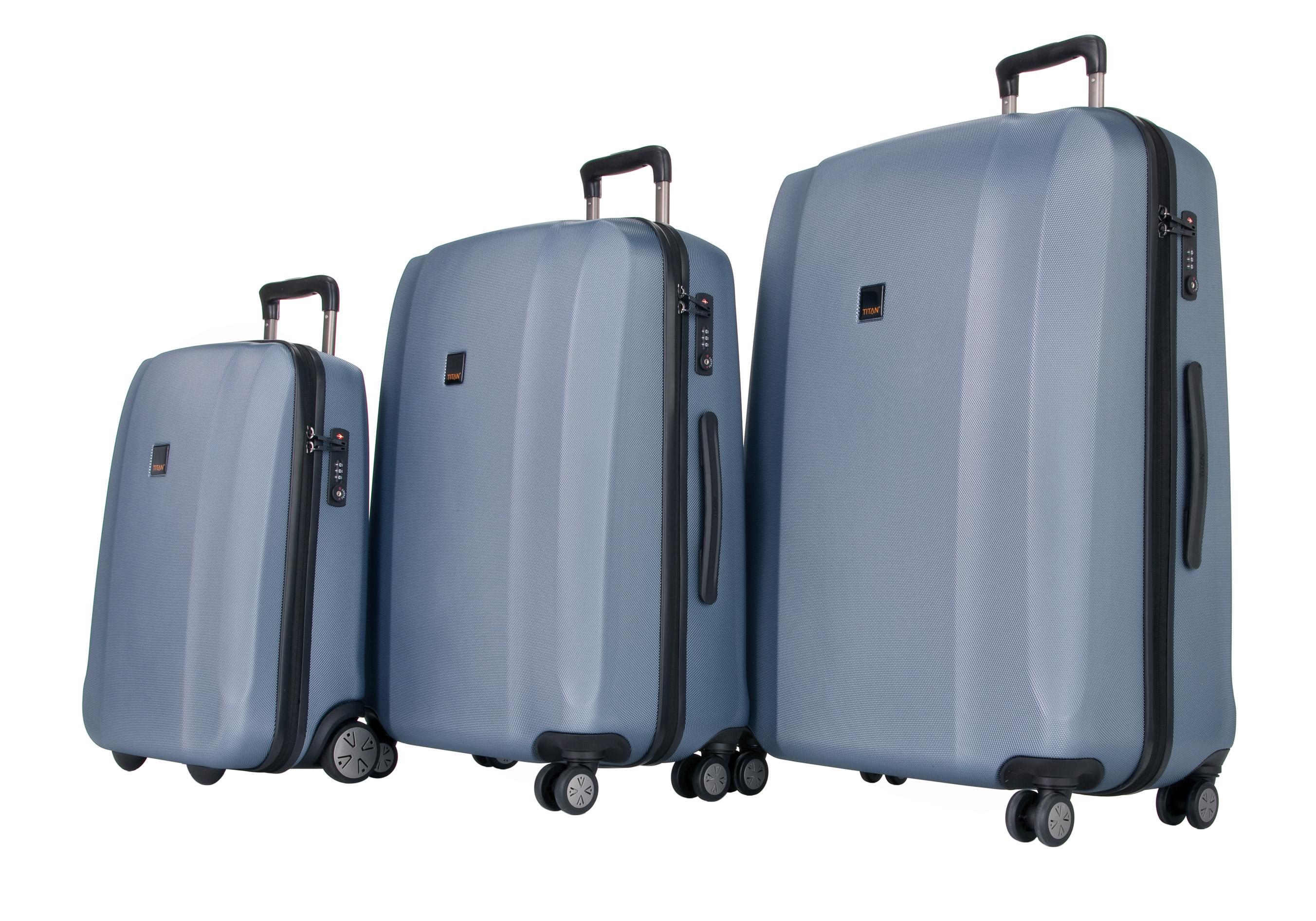 Titan Xenon S,M,L - sada 3 kufrů Blue Stone