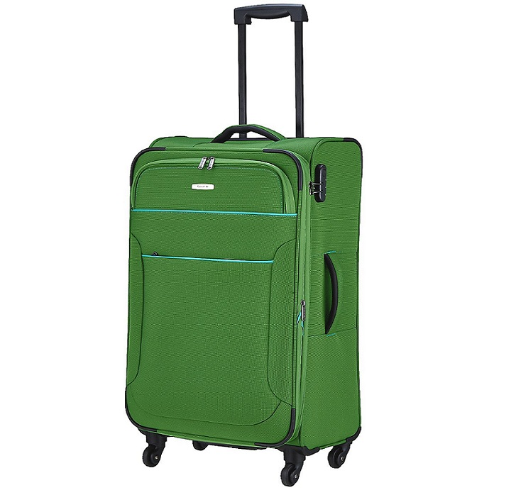 Travelite Derby 4w L/M, 2w S, Board Bag Green – sada 3 kufrů + taška