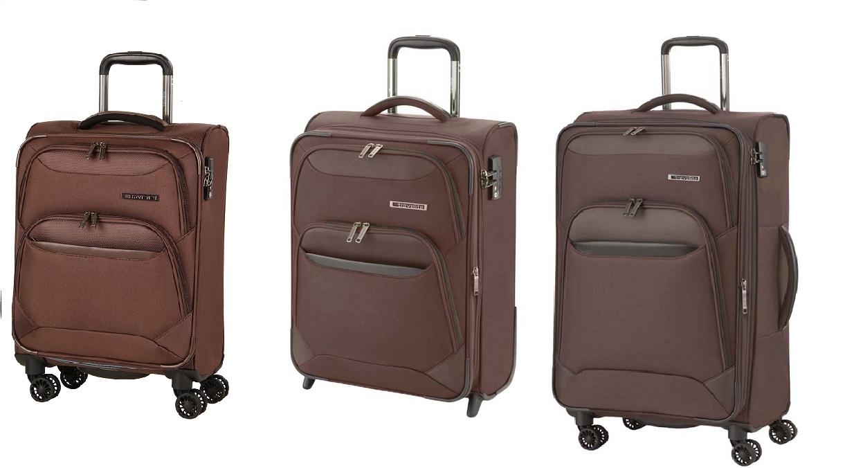 Travelite Kendo 4w L/M/S Brown – sada 3 kufrů