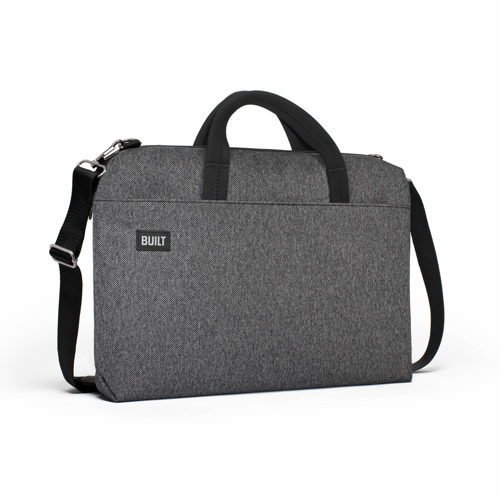 Built Neoprene Hudson Slimcase Laptop Bag Gray Tweed