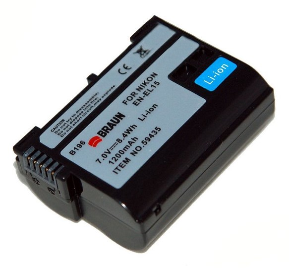 Braun fotoakumulátor Li-Ion 7,4V/1200mAh (B196), typ Nikon EN-EL15